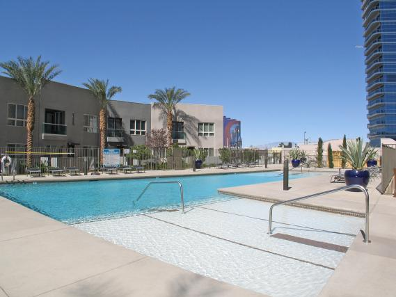 Pool with Townhomes in the Background